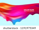 modern colorful flow poster.... | Shutterstock .eps vector #1191975349