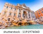 rome  italy. trevi fountain ... | Shutterstock . vector #1191976060