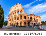 rome  italy. the colosseum or... | Shutterstock . vector #1191976066