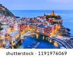 vernazza village at twilight.... | Shutterstock . vector #1191976069