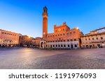 siena  italy. palazzo publico... | Shutterstock . vector #1191976093
