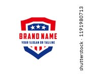 logo design american shield... | Shutterstock .eps vector #1191980713