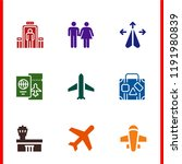 airport icon set. airport wc... | Shutterstock .eps vector #1191980839