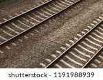 top view of railroad tracks... | Shutterstock . vector #1191988939