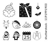 christmas attributes and...   Shutterstock .eps vector #1191991903