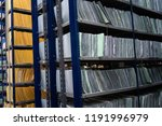 stacks of papers and folders in ... | Shutterstock . vector #1191996979