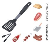 barbecue and equipment cartoon...   Shutterstock .eps vector #1191997510