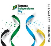 tanzania independence day... | Shutterstock .eps vector #1191997549