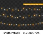 christmas lights  xmas... | Shutterstock .eps vector #1192000726