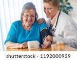 senior adult woman learning... | Shutterstock . vector #1192000939