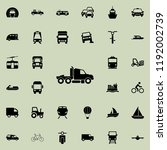 truck icon. transport icons...