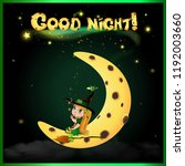 good night vector card with... | Shutterstock .eps vector #1192003660