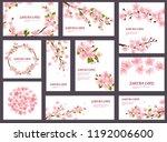 sakura vector blossom cherry... | Shutterstock .eps vector #1192006600