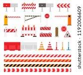 road barrier vector street... | Shutterstock .eps vector #1192006609