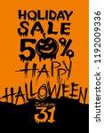 holiday halloween sale.... | Shutterstock .eps vector #1192009336