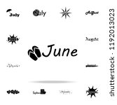 june icon. name of month icons...
