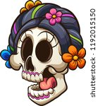 traditional mexican catrina... | Shutterstock .eps vector #1192015150