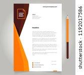 letterhead simple minimalist | Shutterstock .eps vector #1192017586
