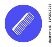 comb icon in badge style. one...