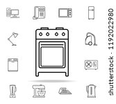 gas oven icon. appliances icons ... | Shutterstock . vector #1192022980