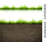 green grass with in soil... | Shutterstock . vector #119202820
