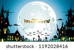 halloween night background with ... | Shutterstock .eps vector #1192028416