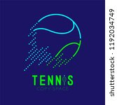 tennis ball rushing logo icon... | Shutterstock .eps vector #1192034749