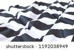 3d render  realistic wavy flag... | Shutterstock . vector #1192038949
