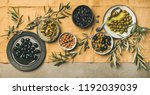 flat lay of various kinds of...   Shutterstock . vector #1192039039