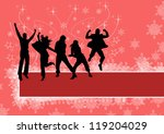 office people christmas party... | Shutterstock . vector #119204029