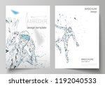 the vector layout of a4 format... | Shutterstock .eps vector #1192040533