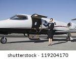 female flight attendant... | Shutterstock . vector #119204170