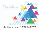 abstract colorful triangle... | Shutterstock .eps vector #1192044769