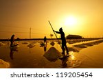salt fields in thailand in... | Shutterstock . vector #119205454
