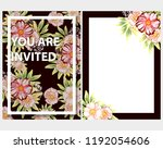 vintage delicate greeting... | Shutterstock .eps vector #1192054606