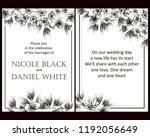 romantic wedding invitation... | Shutterstock . vector #1192056649