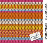 colorful knitted stripes... | Shutterstock .eps vector #1192058356