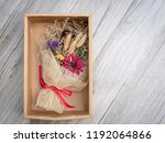 top view bouquet of dried... | Shutterstock . vector #1192064866