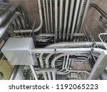full of galvanized steel... | Shutterstock . vector #1192065223