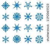 snowflake vector icon... | Shutterstock .eps vector #1192065523