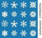 snowflake vector icon... | Shutterstock .eps vector #1192065526