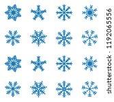 snowflake vector icon... | Shutterstock .eps vector #1192065556