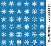 snowflake vector icon... | Shutterstock .eps vector #1192065559