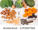 natural food containing vitamin ... | Shutterstock . vector #1192067560