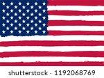 american grunge flag.grunge... | Shutterstock .eps vector #1192068769