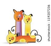 abstract and cute colorful dogs ... | Shutterstock .eps vector #119207236