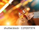 celebration. hands holding... | Shutterstock . vector #119207374