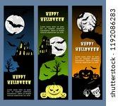 halloween banners leaflets blue ...   Shutterstock .eps vector #1192086283