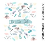 save the date abstract soft...   Shutterstock .eps vector #1192087879