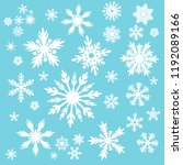 snowflake vector icon...   Shutterstock .eps vector #1192089166